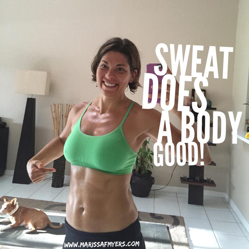 Marissa Myers, Team Aloha, 7 benefits of sweating