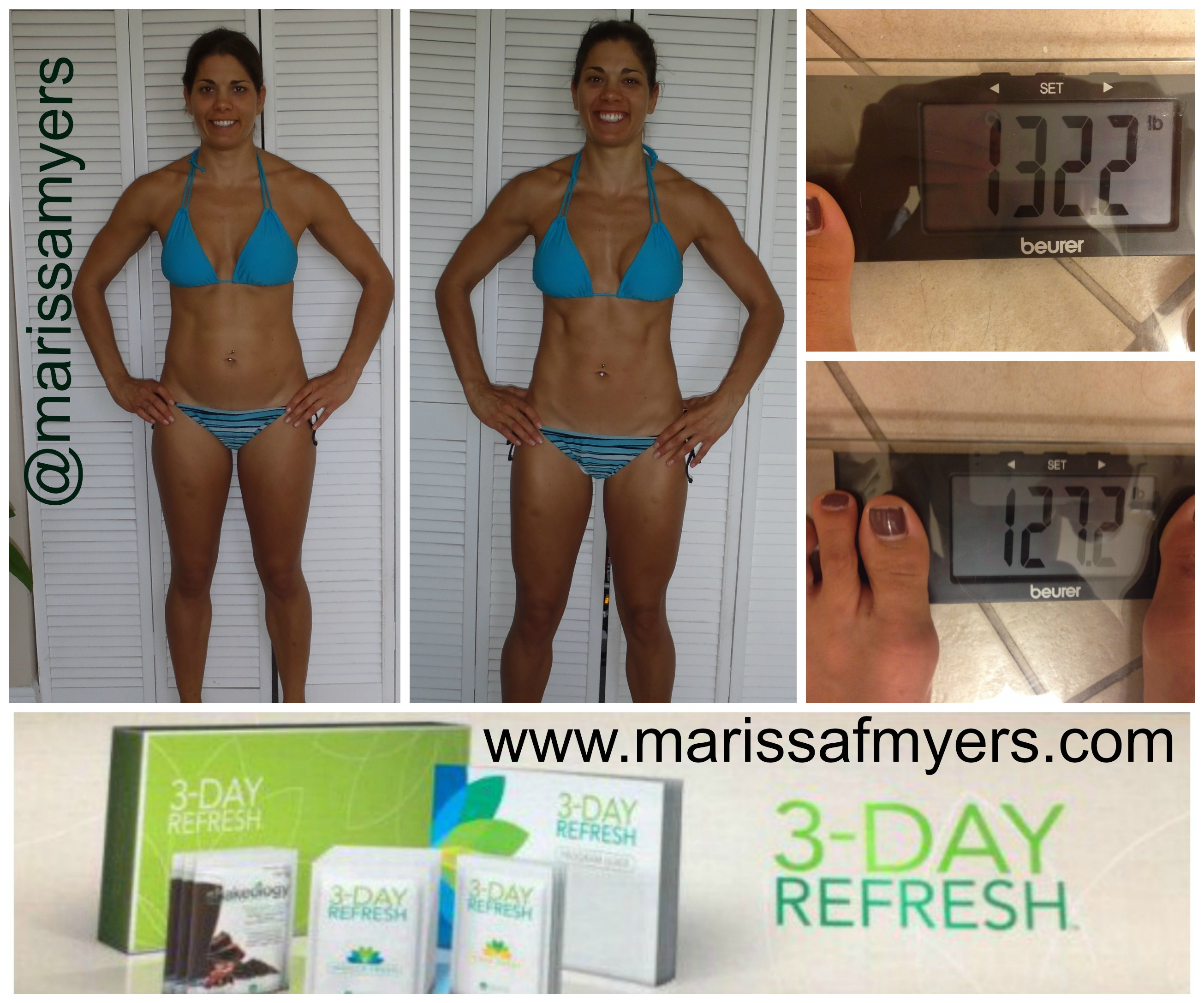 3 day refresh results, marissa myers, team aloha