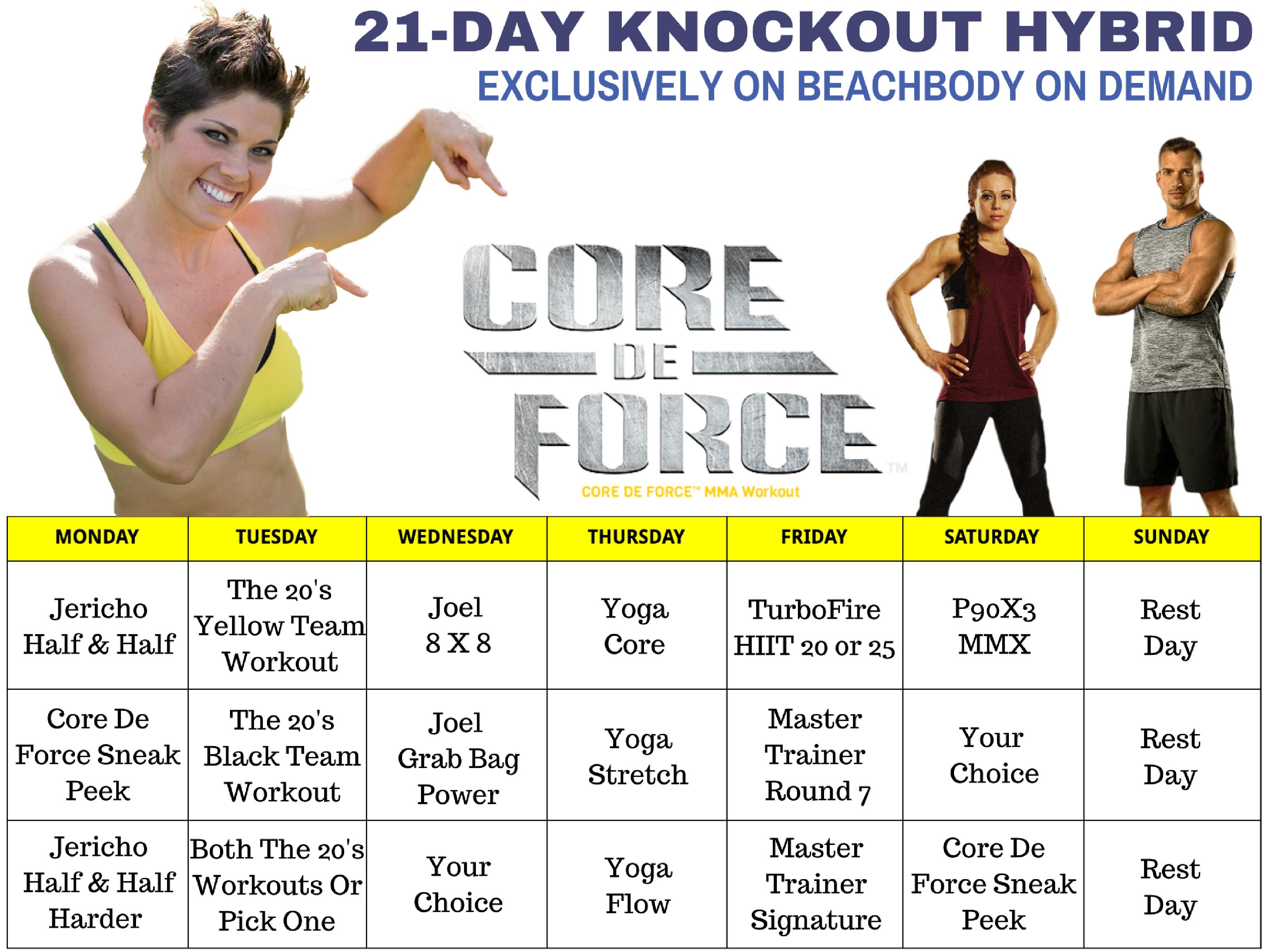 Marissa F Myers, Core De Force Workouts.